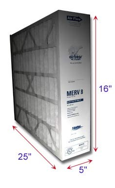 Air Bear Filters 16x25x5 MERV 8
