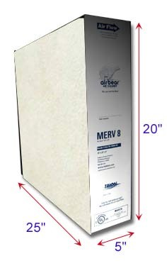 Air Bear Filters  20x25x5 MERV 8 | Plus ZEOLITE